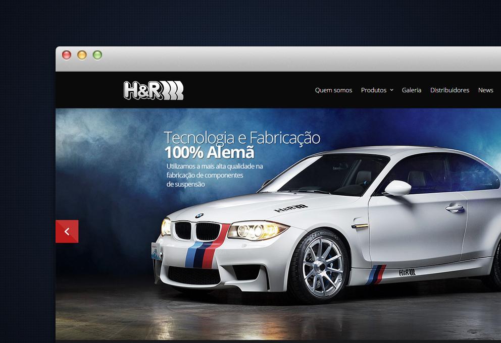 Criação de site responsivo para H&R Springs