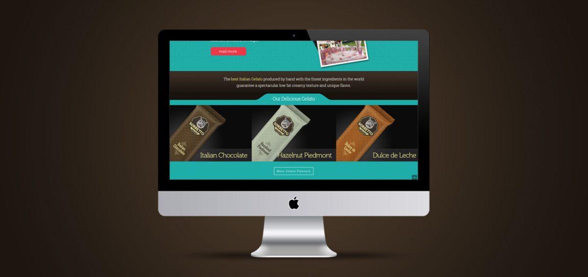 Criação de site responsivo Sorbetto Gelato