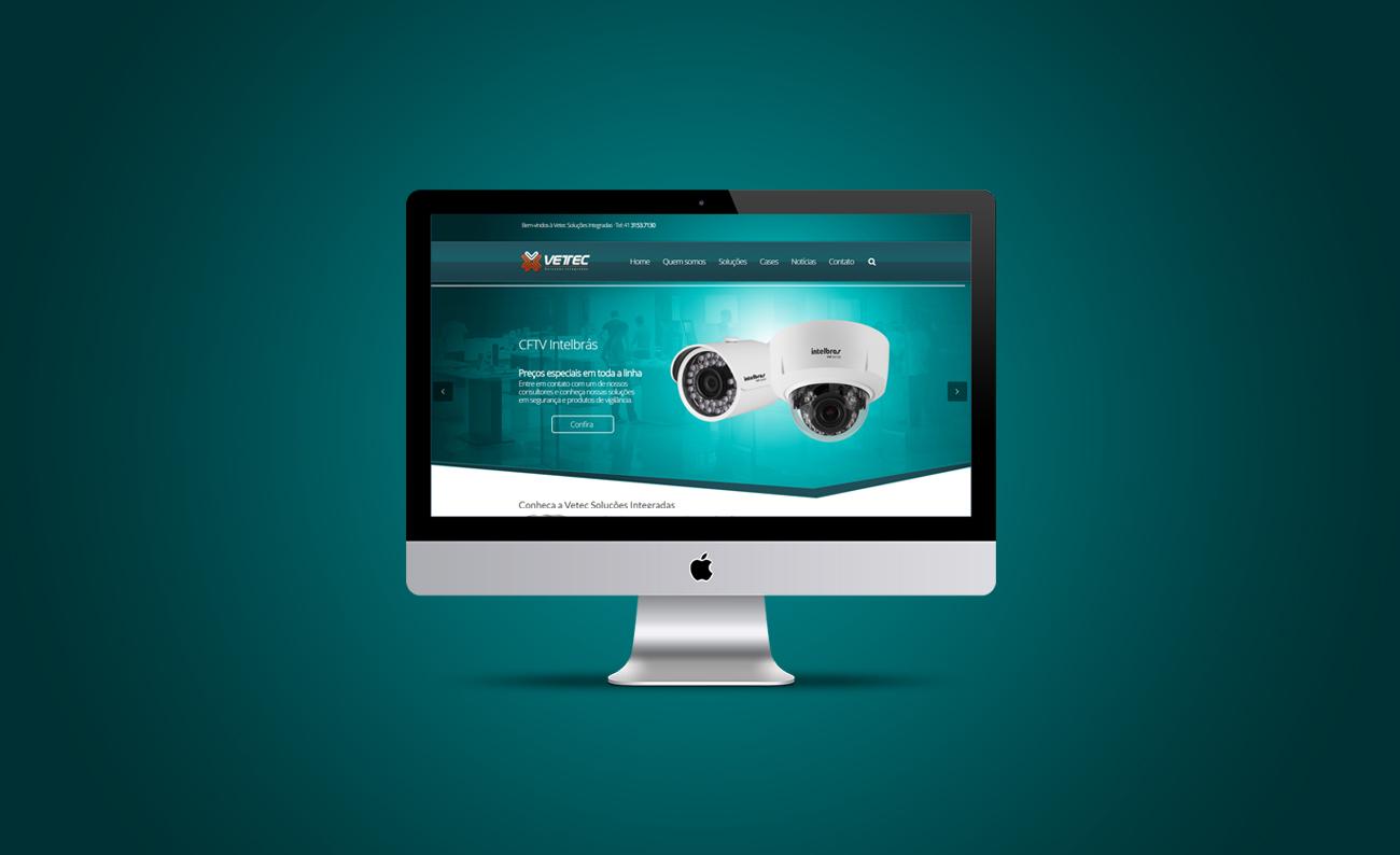 Criação de site para Vetec
