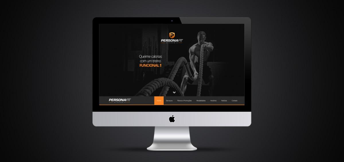 Criação de site responsivo Personafit